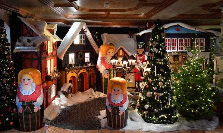 Décor Noël Russe aux Airelles