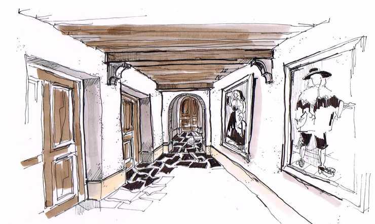 Couloir hôtel Mademoiselle Val d'Isère