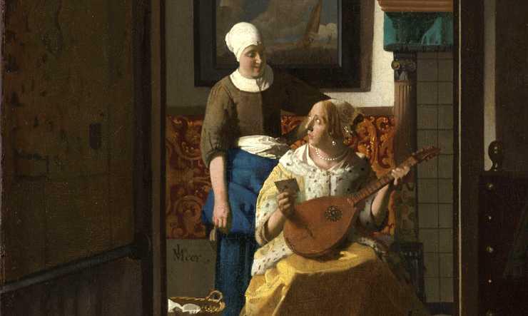 La lettre d'amour Johannes Vermeer